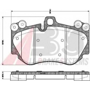 ABS 37693 Комплект тормозных колодок, дисковый тормоз