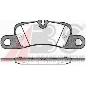 ABS 37725 Комплект тормозных колодок, дисковый тормоз