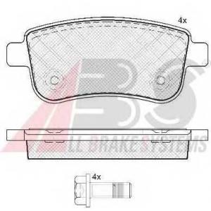 A.B.S. 37732 Комплект тормозных колодок, дисковый тормоз Рено Меган Сс