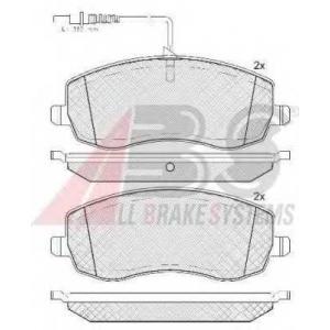 A.B.S. 37734 Комплект тормозных колодок, дисковый тормоз Фиат
