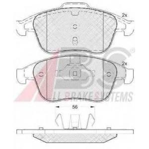 A.B.S. 37744 Комплект тормозных колодок, дисковый тормоз Рено Латитуде