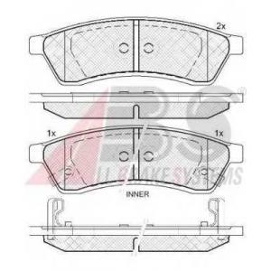 A.B.S. 37747 Комплект тормозных колодок, дисковый тормоз Шевроле Епика