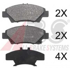 A.B.S. 37754 Комплект тормозных колодок, дисковый тормоз Хонда Црз