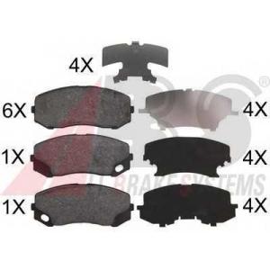 A.B.S. 37772 Комплект тормозных колодок, дисковый тормоз Митсубиси Кантер