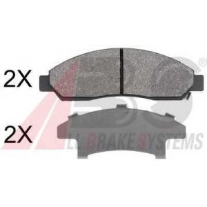 A.B.S. 37851 Комплект тормозных колодок, дисковый тормоз Исузу Д-Макс