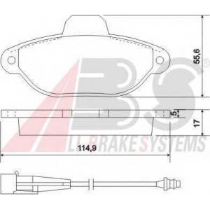 A.B.S. 37896 Комплект тормозных колодок, дисковый тормоз Лансия