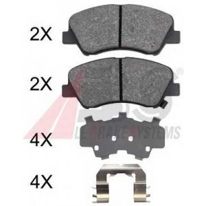 A.B.S. 37916 Комплект тормозных колодок, дисковый тормоз Киа Рио