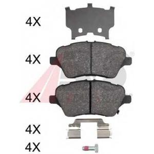 A.B.S. 37956 Комплект тормозных колодок, дисковый тормоз Форд Б-Макс