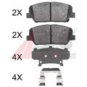 A.B.S. 37969 Комплект тормозных колодок, дисковый тормоз Хюндай Генезис