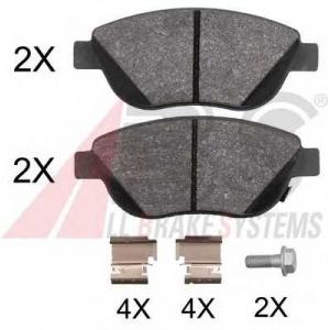 A.B.S. 37970 Комплект тормозных колодок, дисковый тормоз Фиат 500Л