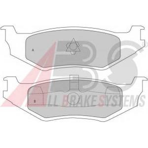 A.B.S. 38512 Комплект тормозных колодок, дисковый тормоз Крайслер Le