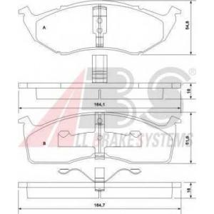 A.B.S. 38591 Комплект тормозных колодок, дисковый тормоз Крайслер Вижн