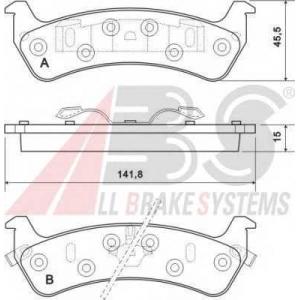 A.B.S. 38625 Комплект тормозных колодок, дисковый тормоз Джип Гранд Чероки