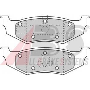 A.B.S. 38641 Комплект тормозных колодок, дисковый тормоз Крайслер Себринг