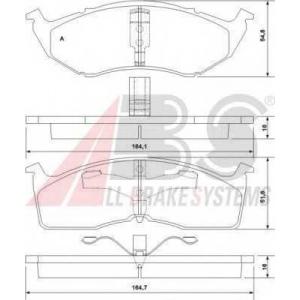 A.B.S. 38642 Комплект тормозных колодок, дисковый тормоз Додж Караван