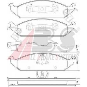 A.B.S. 38650 Комплект тормозных колодок, дисковый тормоз Додж Стратус