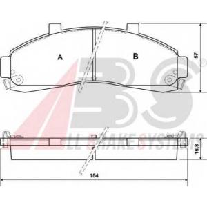 A.B.S. 38652 Комплект тормозных колодок, дисковый тормоз Форд Ренджер