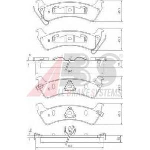 A.B.S. 38666 Комплект тормозных колодок, дисковый тормоз Джип Гранд Чероки