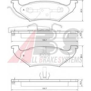 A.B.S. 38715 Комплект тормозных колодок, дисковый тормоз Додж Караван