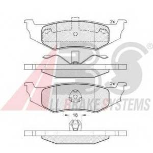 A.B.S. 38759 Комплект тормозных колодок, дисковый тормоз Крайслер Себринг