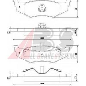 A.B.S. 38782 Комплект тормозных колодок, дисковый тормоз Крайслер Конкорд