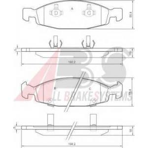A.B.S. 38790 Комплект тормозных колодок, дисковый тормоз Джип Чероки