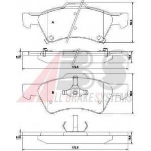 A.B.S. 38857 Комплект тормозных колодок, дисковый тормоз Крайслер
