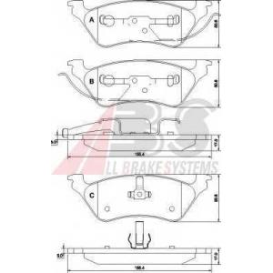 A.B.S. 38858 Комплект тормозных колодок, дисковый тормоз Крайслер