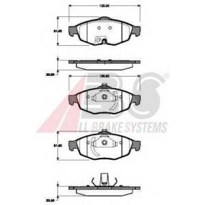 A.B.S. 38869 Комплект тормозных колодок, дисковый тормоз Крайслер Себринг