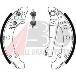 A.B.S. 8772 Колодка торм. барабан. AUDI/SEAT/VW 50/80/AROSA/GOLF задн. (пр-во ABS)