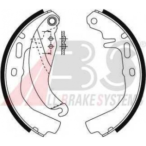 ABS 8792 Комплект тормозных колодок