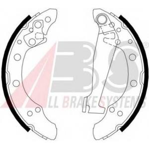 A.B.S. 8871 Колодка торм. барабан. AUDI/SEAT/SKODA/VW 80/A2/AROSA/FABIA/GOLF задн. (пр-во ABS)