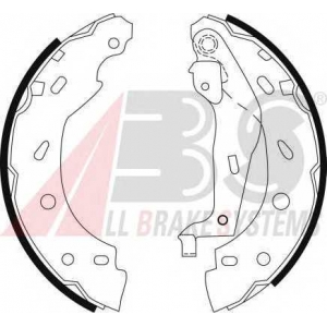 ABS 9123 Комплект тормозных колодок
