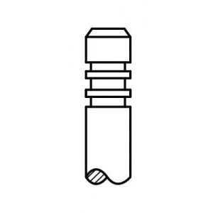 AE V95005 Клапан впускной MAN D2066/D2676 9х44х153.6 (51.04101.0523)(пр-во AE)