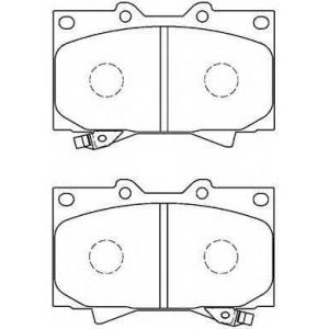 AISIN A1N005 Комплект тормозных колодок, дисковый тормоз Лексус Л-Икс