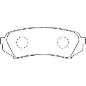 AISIN A2N004 Комплект тормозных колодок, дисковый тормоз Лексус Л-Икс