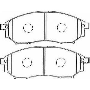 AISIN B1N036 Комплект тормозных колодок, дисковый тормоз Инфинити Ф-Икс