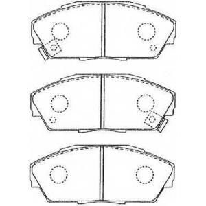 AISIN C1N013 Комплект тормозных колодок, дисковый тормоз Акура