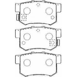AISIN C2N015 Комплект тормозных колодок, дисковый тормоз Хонда Шаттл