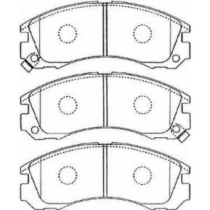 AISIN D1N034 Комплект тормозных колодок, дисковый тормоз Митсубиси Л 200