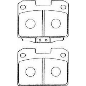 AISIN D2N012 Комплект тормозных колодок, дисковый тормоз Митсубиси 3000 Джи-Ти