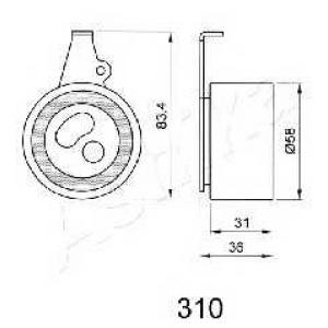 ASHIKA 45-03-310 Tensioner bearing