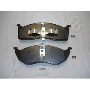 ASHIKA 5000099 Комплект тормозных колодок, дисковый тормоз
