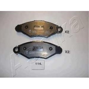 ASHIKA 50-01-114 Комплект тормозных колодок, дисковый тормоз (пр-во ASHIKA)