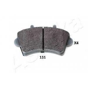 ASHIKA 50-01-151 Комплект тормозных колодок, дисковый тормоз (пр-во ASHIKA)
