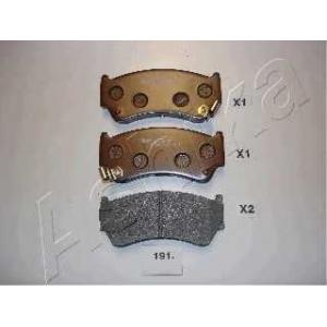 ASHIKA 5001191 Комплект тормозных колодок, дисковый тормоз