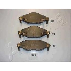 ASHIKA 50-02-204 Комплект тормозных колодок, дисковый тормоз (пр-во ASHIKA)