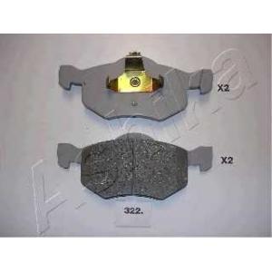 ASHIKA 50-03-322 Комплект тормозных колодок, дисковый тормоз Мазда Трибут