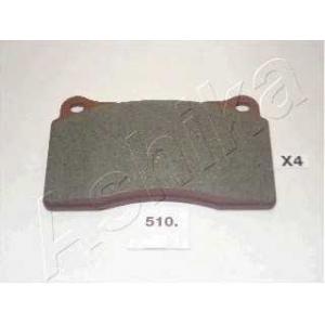 ASHIKA 50-05-510 Комплект тормозных колодок, дисковый тормоз (пр-во ASHIKA)