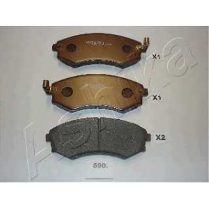ASHIKA 50-05-590 Комплект тормозных колодок, дисковый тормоз Хюндай Матрикс